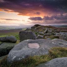 Peaks Stanage Overstones Sunset