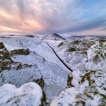 Winnats Pass Winter Snow
