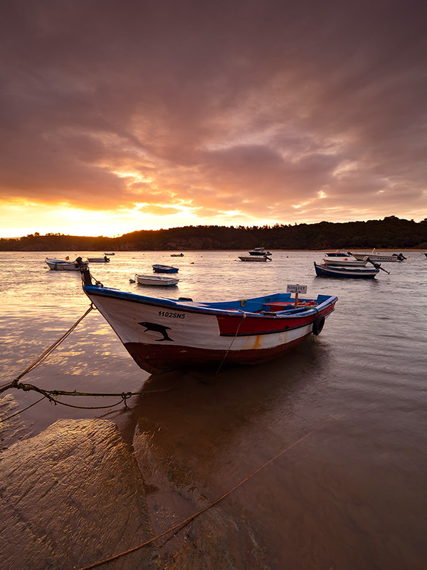 Portugal Milfontes Boat Dawn I