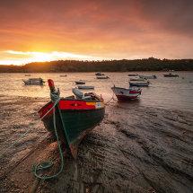 Portugal Milfontes Boat Dawn II