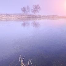 Dawn Mist on Rannoch Moor