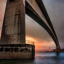 Skye Bridge and Lighthouse at Dawn