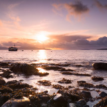 Elgol Fishing Boat Sunset