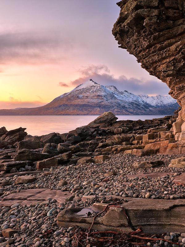 Elgol Sunset On The Cuillins