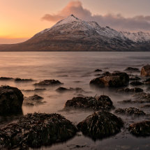 Elgol Twilight on The Cuillins