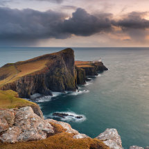 Neist Point Dark Sunset
