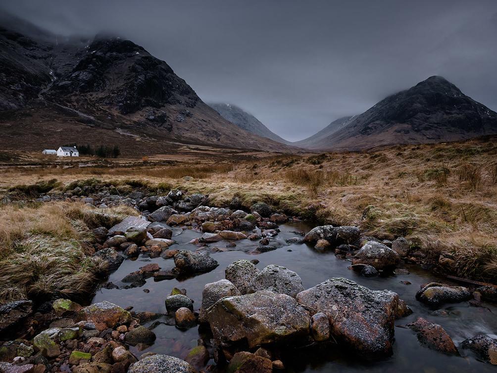 White Hut and Rocks