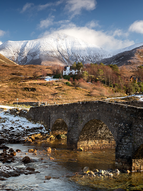 Sligachan Bridge and Snow