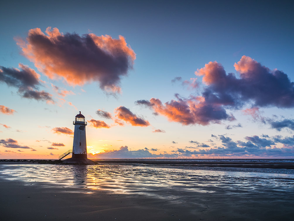 Point Of Ayr Sunset