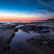 Bamburgh Moonset