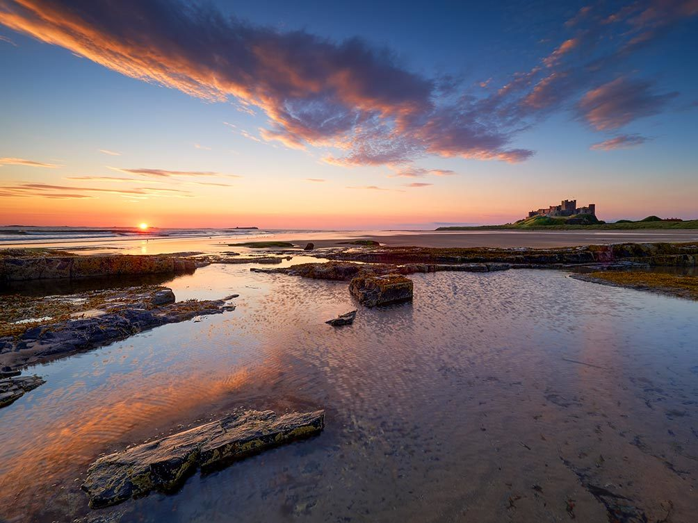 Bamburgh Breaking Dawn