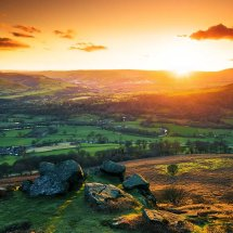 Bamford Edge Orange Sunset