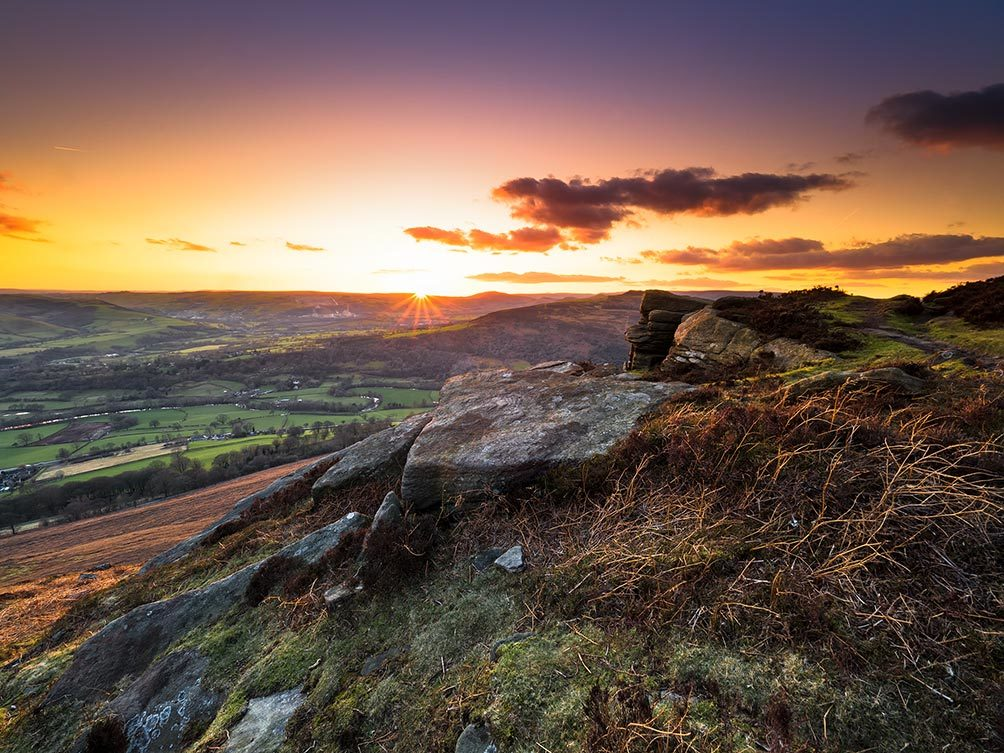 Bamford Edge Autumn Sunset