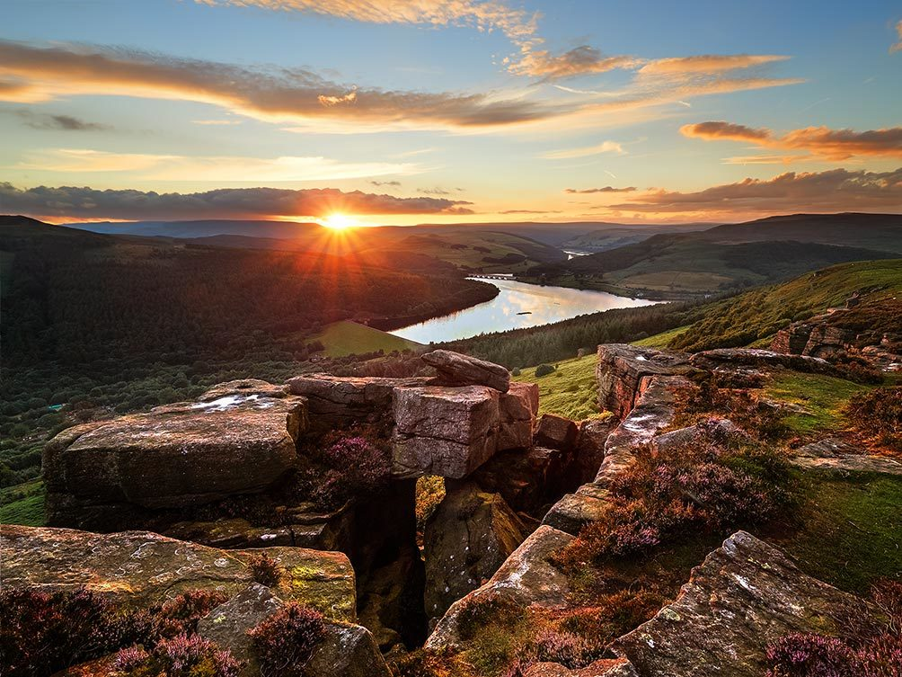 Bamford Edge Ladybower Sunset