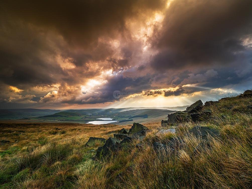 Sun Burst-Castleshaw Moor