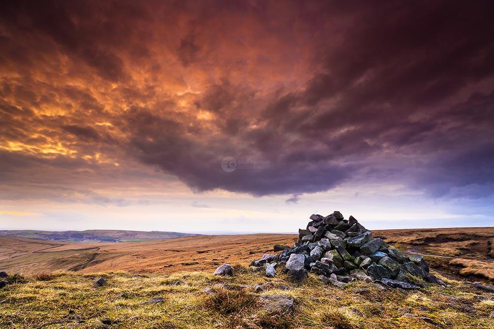 Sky Meets Earth-Castleshaw Moor
