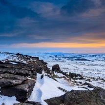 Winter Dusk Castleshaw Moor II