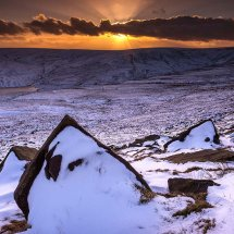 Winter Sunset 2-Marsden Moor