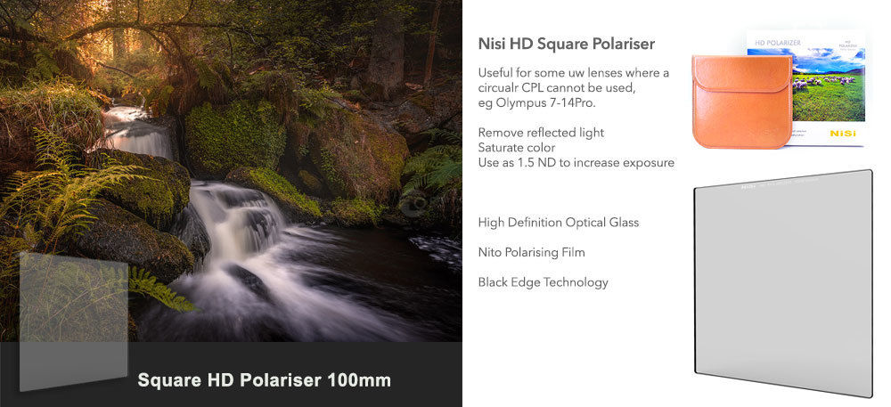 Nisi Square Polariser 100mm £122