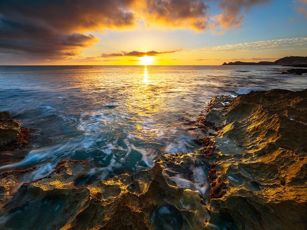 Dawn in Javea-Spain