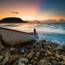 Boat At Sunrise-Spain III