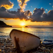Boat At Sunrise-Spain V