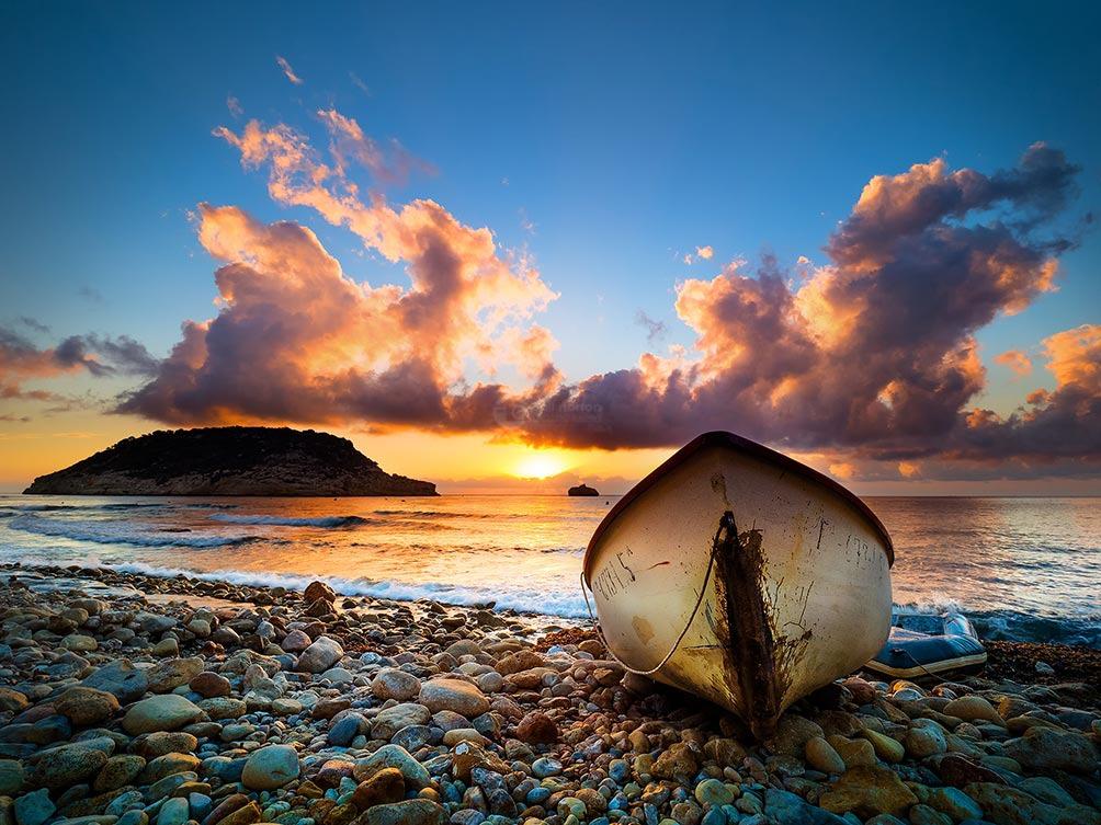 Boat At Sunrise-Spain VI