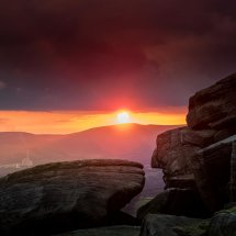 Stanage Autumn Sunset