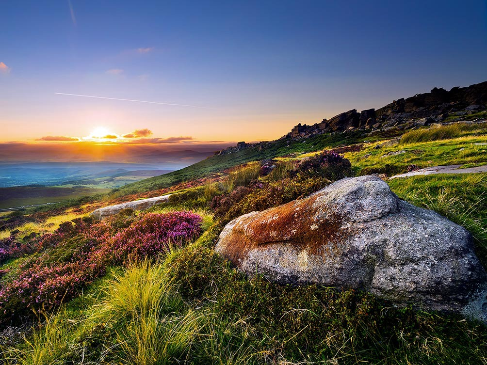 Stanage Summer Sunset