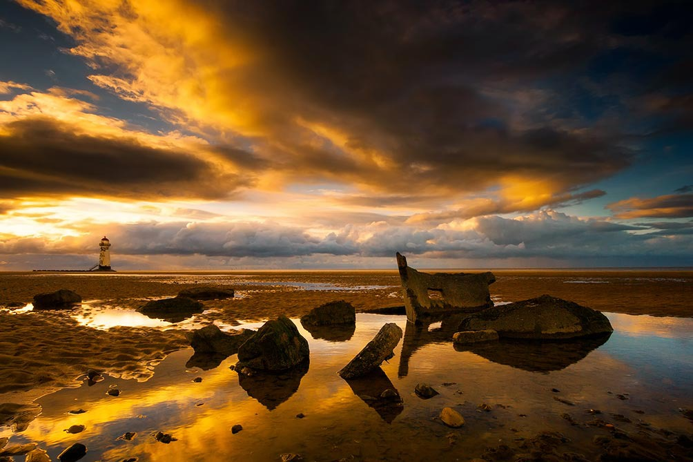 Talacre Beach Sunset