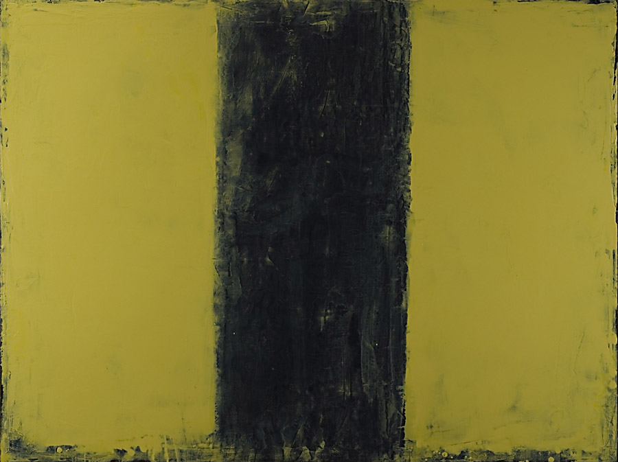 Triptych - Yellow and Black I
