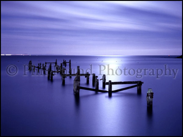 Derelict Pier, Swanage, Dorset.