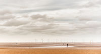 1st Nigel Byrom , Coastal Landscape, Crosby, Sculptures And Windfarm