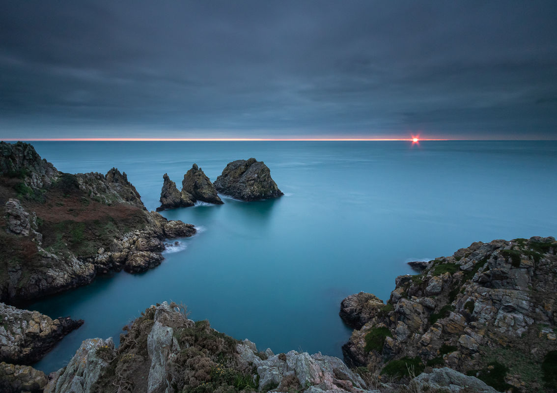 4th Ian Toms , Coastal Landscape, Pea Stacks Sunset