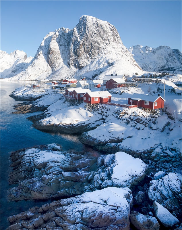 Anthony Le Conte  , Winter, Hamnoy In Winter