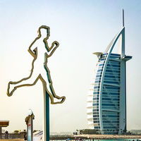Derek Bridel AFIAP, BPE2 Open(Square Format) Striding To Sail - Burj Al Arab