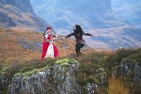 Honours CO Martyn Elliston Bernadette and Asia battle at Glencoe