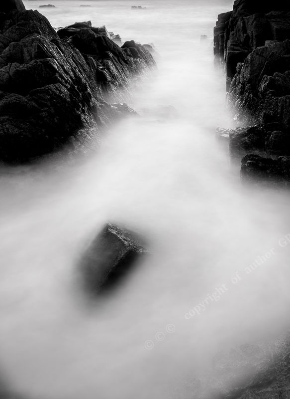 Ian Toms Black or White Swirling Water