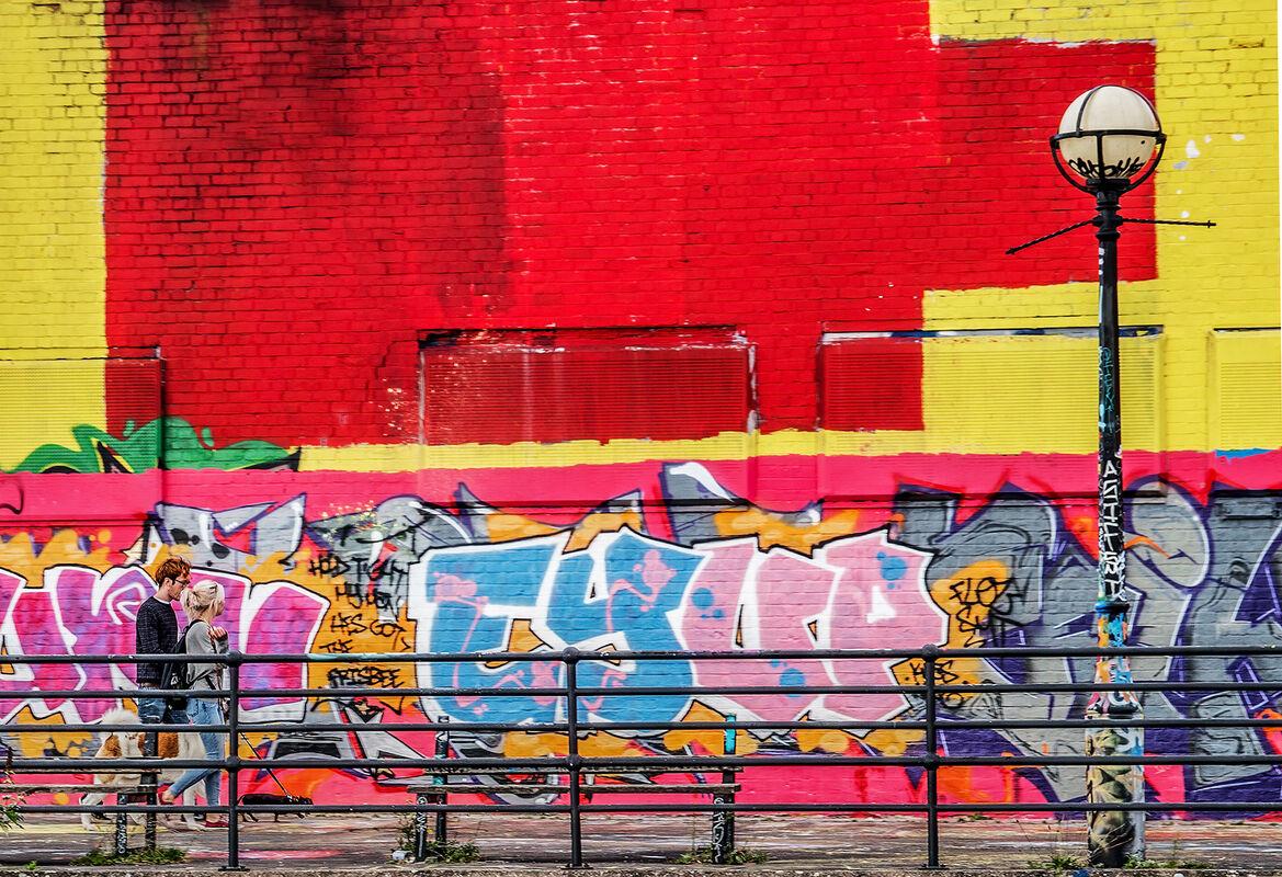 Joanne Mahy ,Red-any shade, Wharf Walk