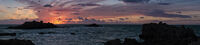 Martyn Elliston ,Panoramic, Grandes Rocques Sunset
