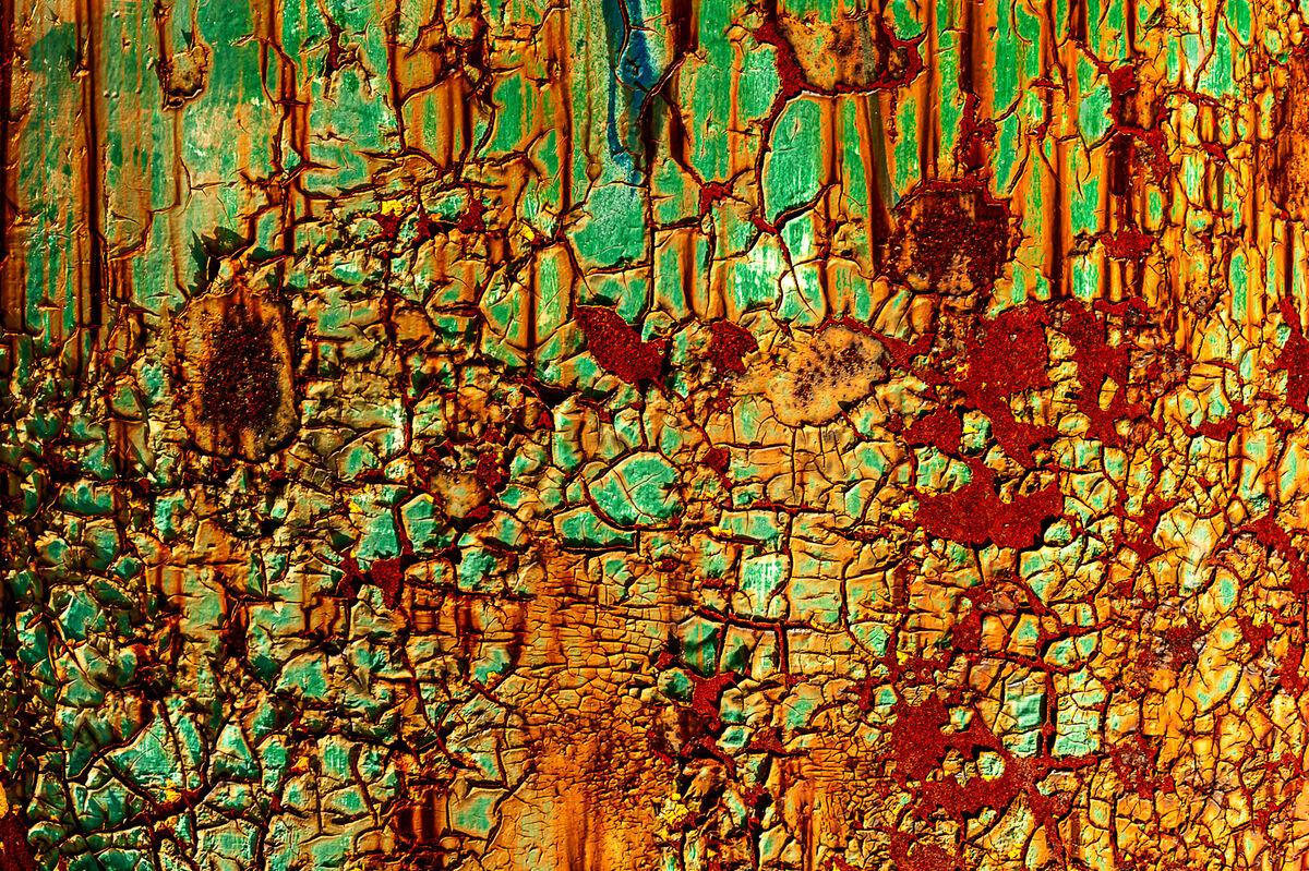 Nigel Byrom ,Texture, Rusting Away