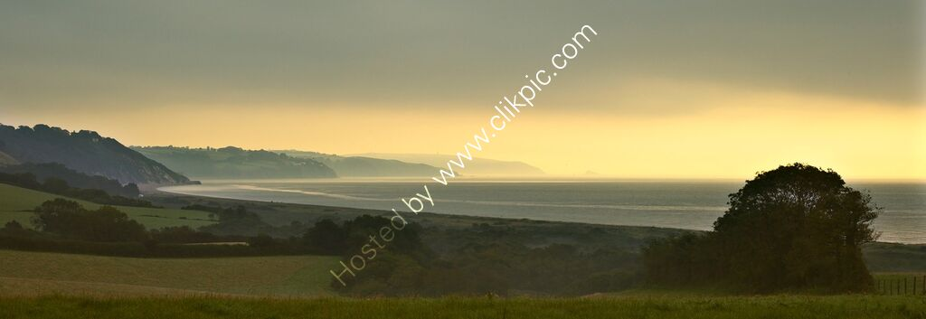 Morning light, Start Bay, Devon, UK.