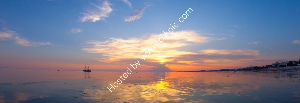 Sunset, Side, Turkey.