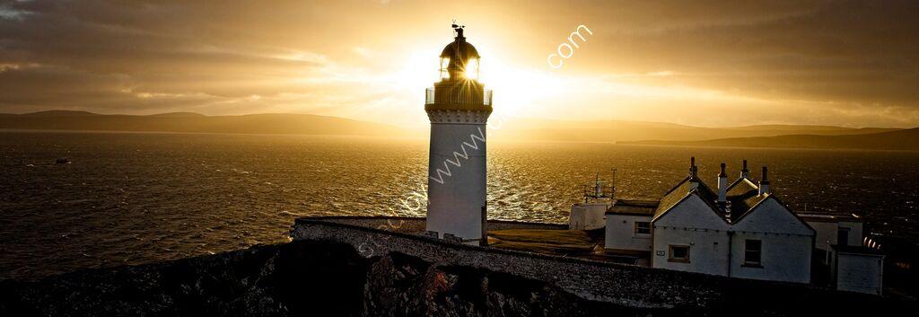 """""""Bressay Lighthouse at sunset, Shetland."""""""