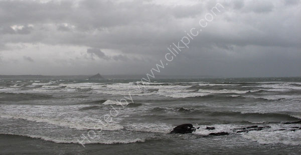Stormy day across Mount's Bay