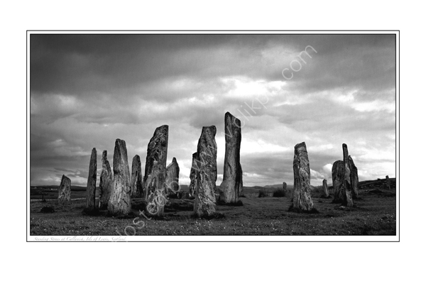 Standing Stones at Callanish, Isle of Lewis, Scotland.