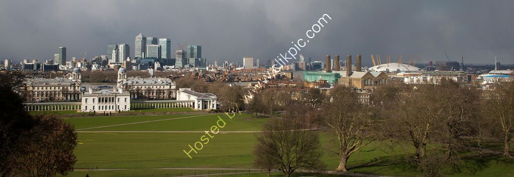 """City of London from Greenwich Hill"""