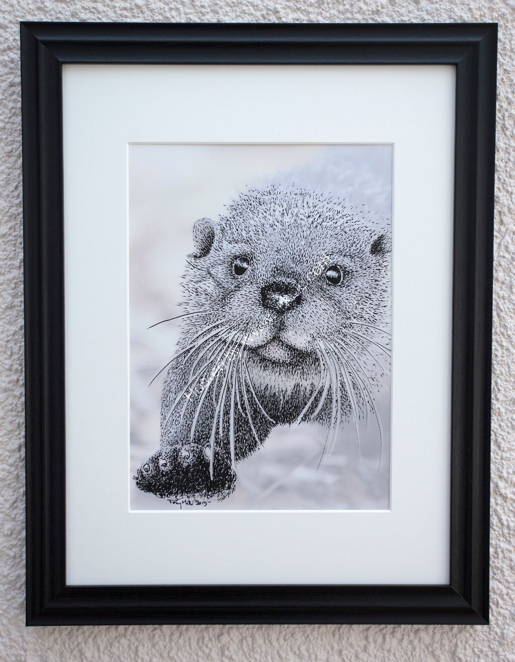 The Inqusitive Otter #4 (framed)