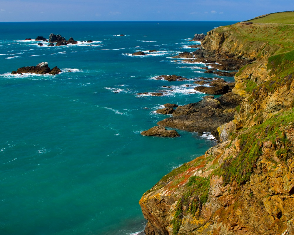 The coast and cliffs at The Lizard Point.