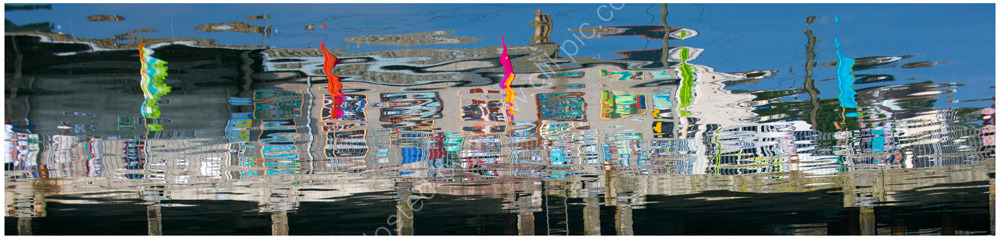Reflections - Newlyn Harbour. Limited edition giclée print.